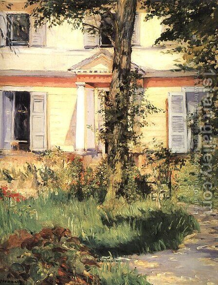 The House at Rueil 1882 by Edouard Manet - Reproduction Oil Painting