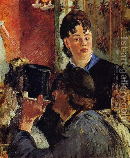 The Waitress  1879 by Edouard Manet - Reproduction Oil Painting