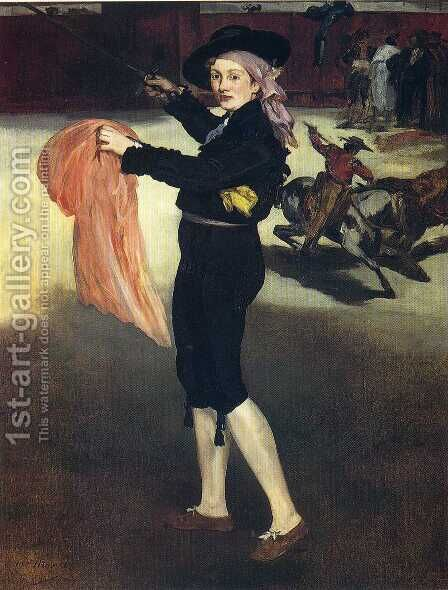 Mlle Victorine in the Costume of an Espada 1862 by Edouard Manet - Reproduction Oil Painting