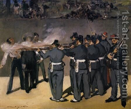 The Execution of the Emperor Maximilian  1867 by Edouard Manet - Reproduction Oil Painting