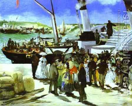 The Depature Of The Folkestone Boat by Edouard Manet - Reproduction Oil Painting
