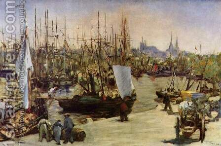 The Harbour At Bordeaux by Edouard Manet - Reproduction Oil Painting