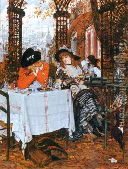 A Luncheon by James Jacques Joseph Tissot - Reproduction Oil Painting