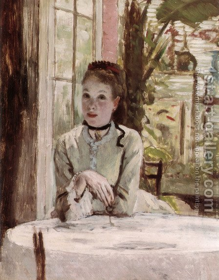 A Woman In An Elegant Interior by James Jacques Joseph Tissot - Reproduction Oil Painting