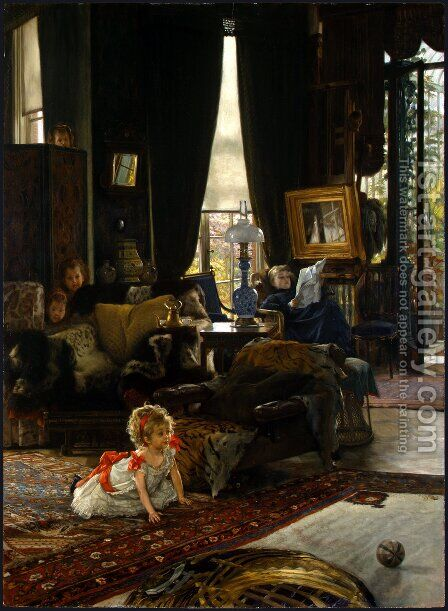 Hide And Seek by James Jacques Joseph Tissot - Reproduction Oil Painting
