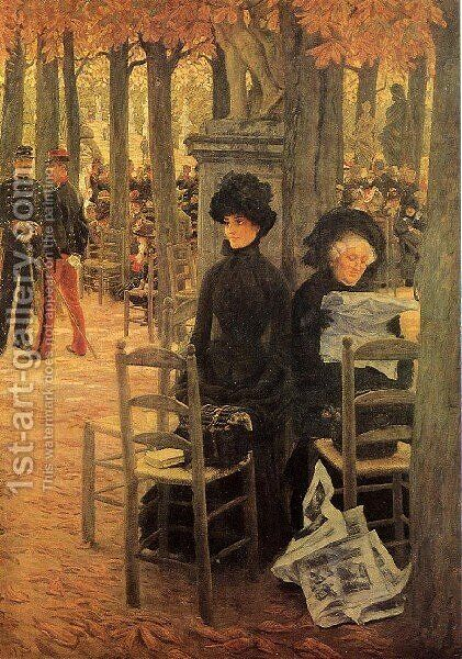 Jacques Without A Dowry Aka Sunday In The Luxembourg Gardens by James Jacques Joseph Tissot - Reproduction Oil Painting