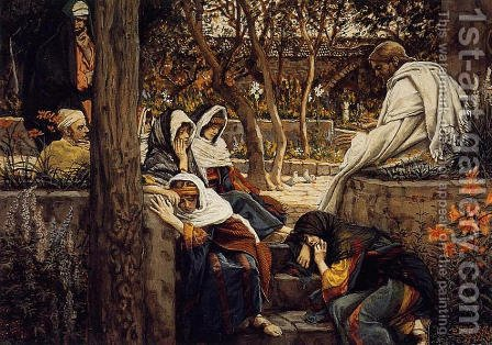 Jesus At Bethany by James Jacques Joseph Tissot - Reproduction Oil Painting