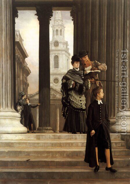 London Visitors  1874 by James Jacques Joseph Tissot - Reproduction Oil Painting