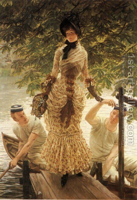 On The Thames by James Jacques Joseph Tissot - Reproduction Oil Painting