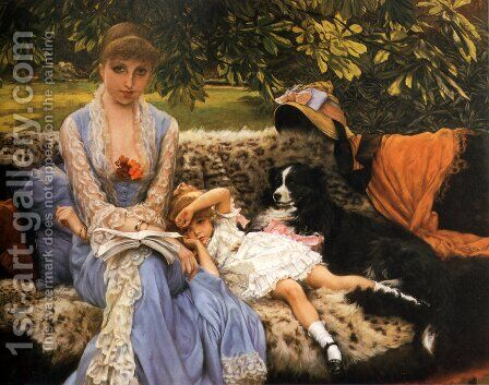Quiet by James Jacques Joseph Tissot - Reproduction Oil Painting