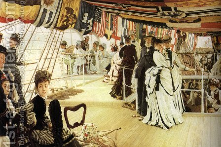 The Ball On Shipboard by James Jacques Joseph Tissot - Reproduction Oil Painting