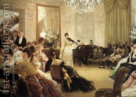 The Concert by James Jacques Joseph Tissot - Reproduction Oil Painting