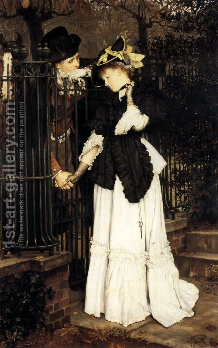 The Farewell by James Jacques Joseph Tissot - Reproduction Oil Painting