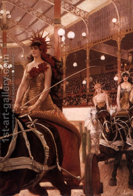 The Ladies Of The Cars by James Jacques Joseph Tissot - Reproduction Oil Painting