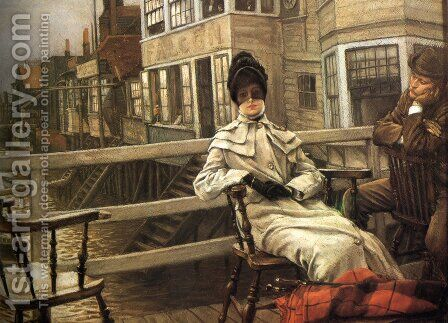 Waiting For The Ferry 2 by James Jacques Joseph Tissot - Reproduction Oil Painting