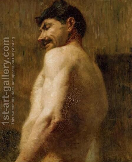 Bust Of A Nude Man by Toulouse-Lautrec - Reproduction Oil Painting