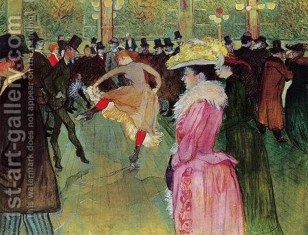 Dance At The Moulin Rouge by Toulouse-Lautrec - Reproduction Oil Painting