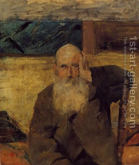 Old Man At Celeyran by Toulouse-Lautrec - Reproduction Oil Painting