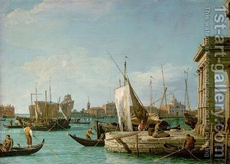 La Punta Della Dogana   Custom Point by (Giovanni Antonio Canal) Canaletto - Reproduction Oil Painting