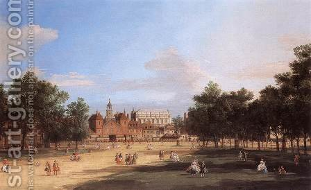 London   The Old Horse Guards And Banqueting Hall  From St James S Park by (Giovanni Antonio Canal) Canaletto - Reproduction Oil Painting