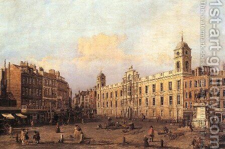 London Northumberland House by (Giovanni Antonio Canal) Canaletto - Reproduction Oil Painting