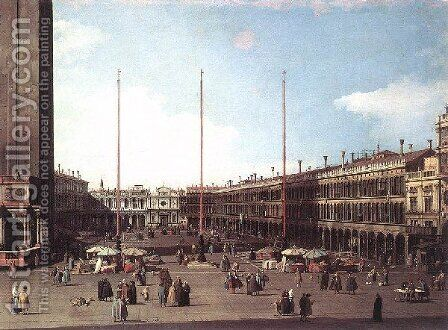 Piazza San Marco Looking Toward San Geminiano by (Giovanni Antonio Canal) Canaletto - Reproduction Oil Painting