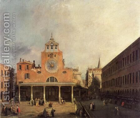San Giacomo di Rialto, 1725-30 by (Giovanni Antonio Canal) Canaletto - Reproduction Oil Painting