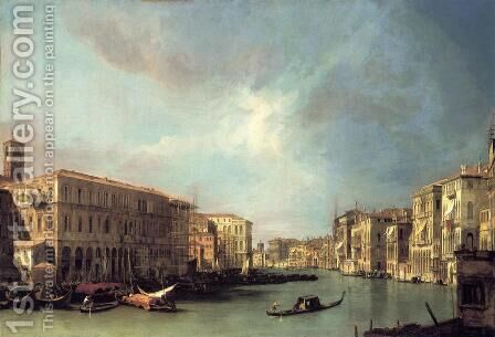 The Grand Canal From Rialto Toward The North by (Giovanni Antonio Canal) Canaletto - Reproduction Oil Painting