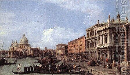The Molo    Looking West by (Giovanni Antonio Canal) Canaletto - Reproduction Oil Painting
