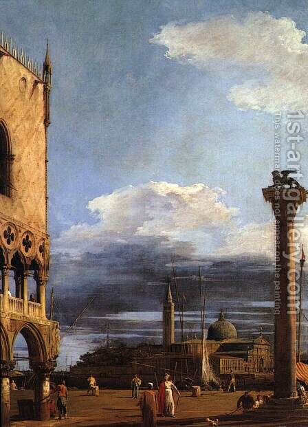 The Piazzetta Towards S  Giorgio Maggiore by (Giovanni Antonio Canal) Canaletto - Reproduction Oil Painting