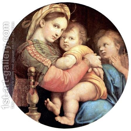 Madonna della Sedia  1518 by Raphael - Reproduction Oil Painting