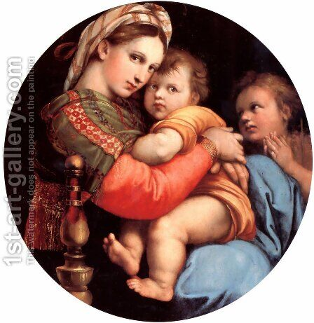 The Madonna Of The Chair by Raphael - Reproduction Oil Painting