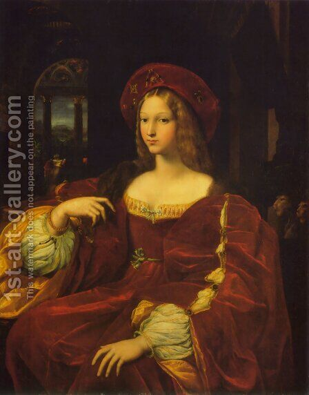 Joanna Of Aragon by Raphael - Reproduction Oil Painting