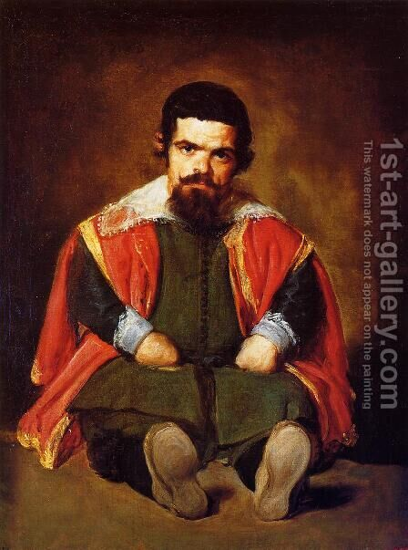A Dwarf Sitting On The Floor by Velazquez - Reproduction Oil Painting