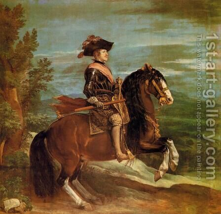 Equestrian Portrait Of Philip IV by Velazquez - Reproduction Oil Painting