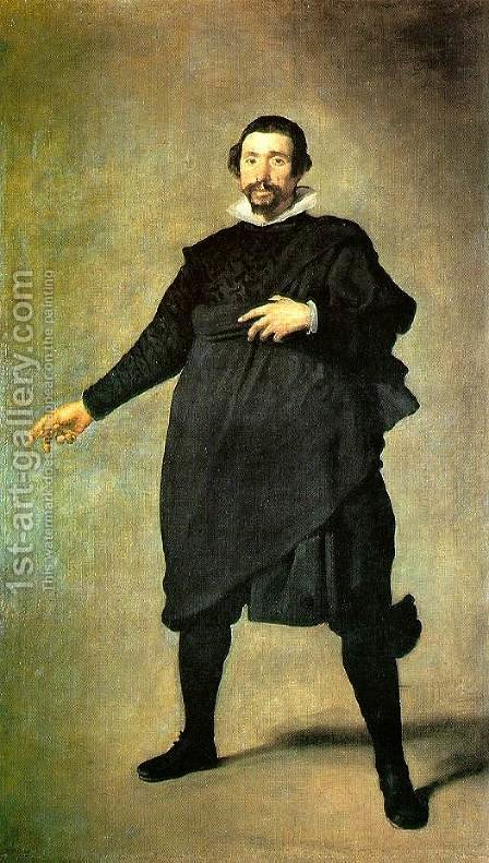 Pablo De Valladolid by Velazquez - Reproduction Oil Painting