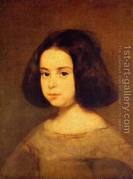 Portrait Of A Little Girl by Velazquez - Reproduction Oil Painting