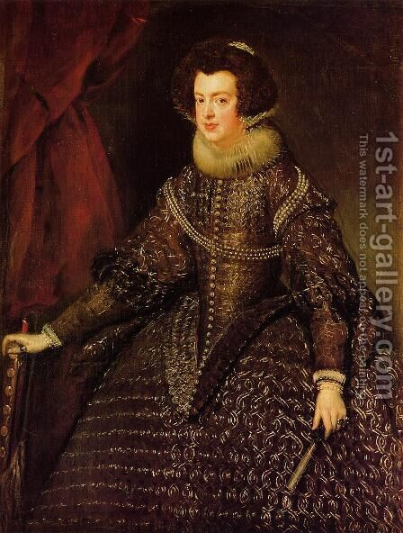 Queen Isabel by Velazquez - Reproduction Oil Painting
