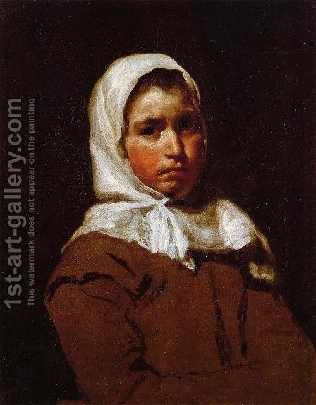 Young Peasant Girl by Velazquez - Reproduction Oil Painting