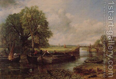 A View On The Stour Near Dedham by John Constable - Reproduction Oil Painting