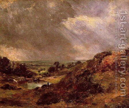 Branch Hill Pond Hampstead by John Constable - Reproduction Oil Painting