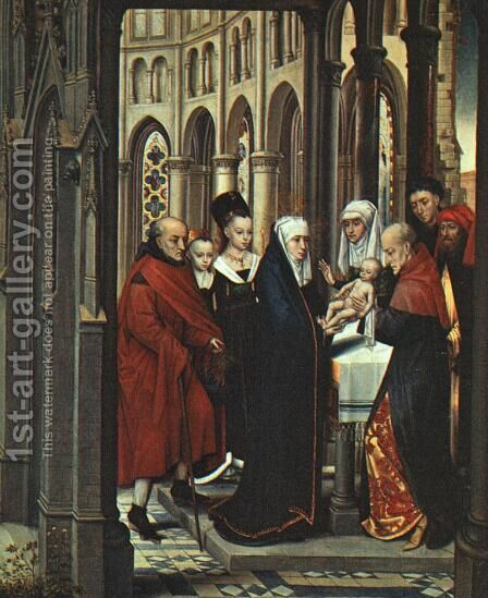 The Presentation in the Temple 1463 by Hans Memling - Reproduction Oil Painting