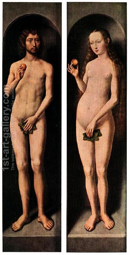 Adam And Eve by Hans Memling - Reproduction Oil Painting