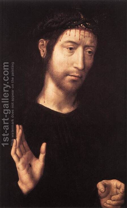 Man of Sorrows 1480s by Hans Memling - Reproduction Oil Painting