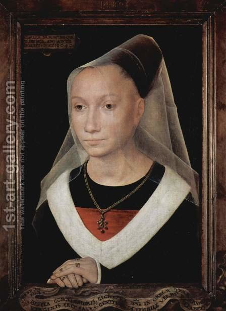 Portrait of a Young Woman 1480 by Hans Memling - Reproduction Oil Painting