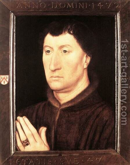 Portrait of Gilles Joye 1472 by Hans Memling - Reproduction Oil Painting