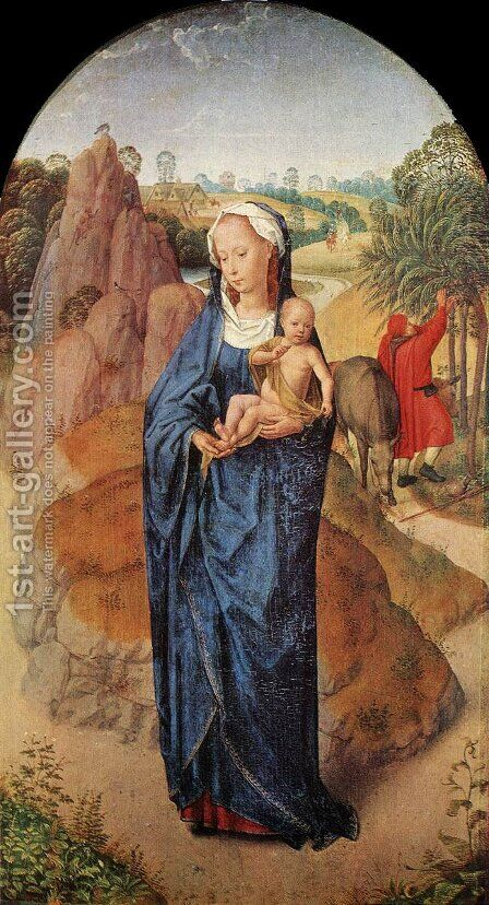 Virgin and Child in a Landscape by Hans Memling - Reproduction Oil Painting
