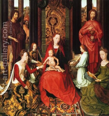 Marriage Of St Catherine by Hans Memling - Reproduction Oil Painting