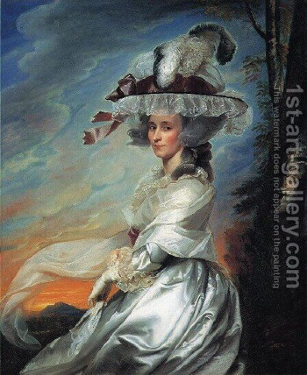Mrs  Daniel Denison Rogers Abigail Bromfield by John Singleton Copley - Reproduction Oil Painting