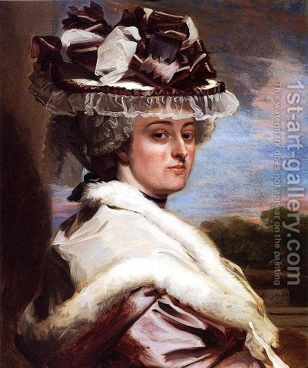 Portrait Of Letitia F  Balfour by John Singleton Copley - Reproduction Oil Painting